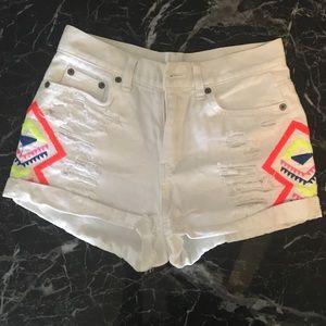 Carmar tribal print shorts